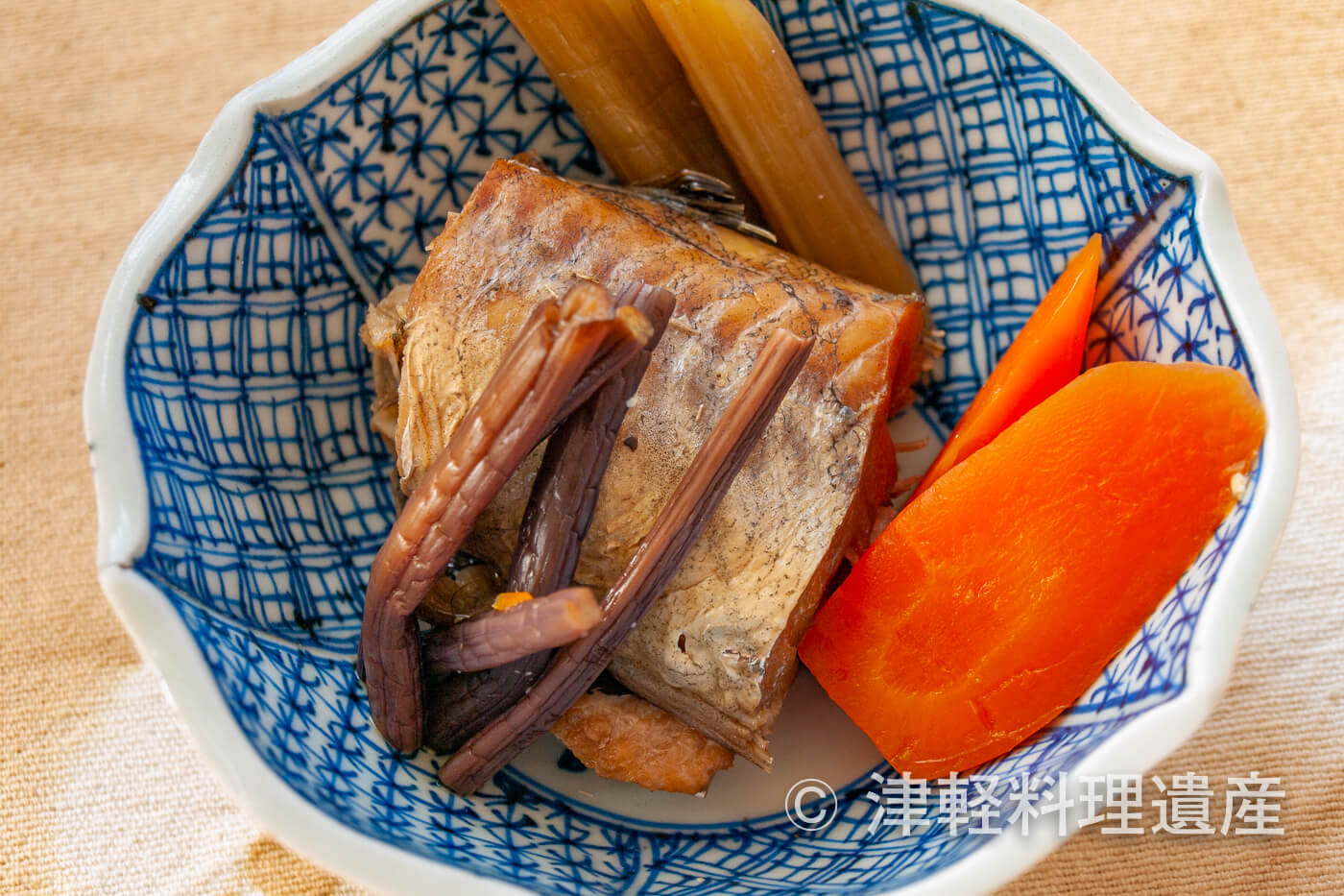干し鱈とふきの煮付け